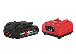 """SKIL 3110 AA Акумулаторна батерия (""""20V Max"""" (18V) 2,5 Ah """"Keep Cool"""" литиево-йонна) и зарядно устройство"""
